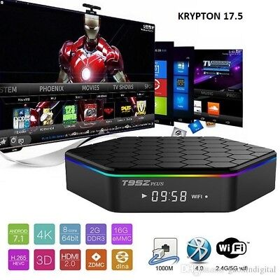 T95Z Plus Android 7.1 NOUGET S912 Octa Core TV Box Bluetooth 4.0 Dual Band Wi-Fi