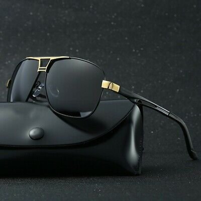Style Mens Polarized Pilot Aviator Sunglasses Driving Outdoor Eyewear Inner (Mens Blue Aviator Sunglasses)