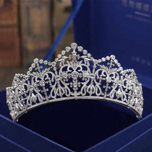 Luxury All CZ Cubic Zirconia Queen Wedding Queen Party Pageant Prom Tiara Crown