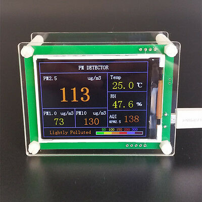 Laser Pm2.5 Detector With Temp And Humi Tft Lcd Display Pms5003 G5battery