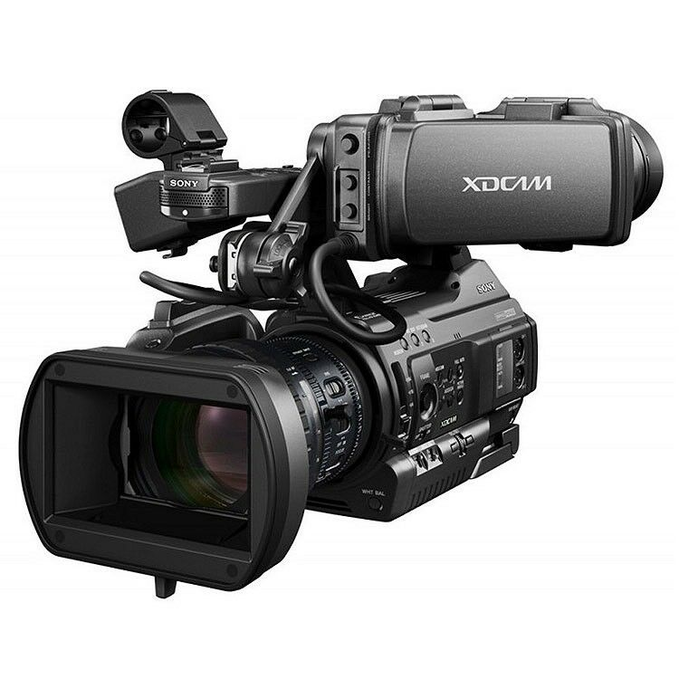 Professional XDCAM HD422 handheld camcorder with broadcast HD picture quality