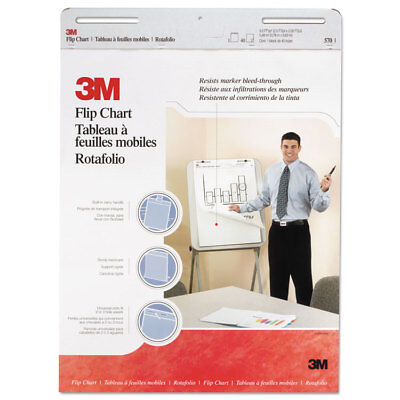 3m Professional Flip Chart Pad Unruled 25 X 30 White 40 Sheets 2carton 570