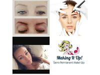 Semi permanent make-up ~ eyebrows - eyeliner - makeup