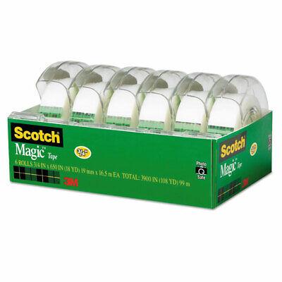 Scotch Magic Tape Refillable Dispenser 34 X 650 1 Core Transparent 6pack