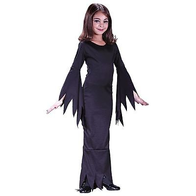 Adams Family Morticia Girls Child Halloween Costume 9731 - Adams Family Halloween Costumes