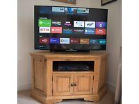 Oak Corner TV Stand