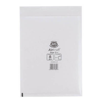 Jiffy Airkraft Postal Bags Bubble-lined Peel & No.3 White 220x320mm PK 50