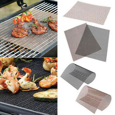 BBQ Grill Mesh Non-Stick Mat Reusable Sheet Resistant Cooking Baking Barbecue UK