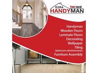 EZRAHANDYMAN - bathroom general refurbishment - decorating- wood and laminate flooring