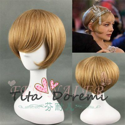 Halloween Wig Costume The Great Gatsby Daisy brown Cosplay Heat Resistant Hair](Daisy Great Gatsby Costume)