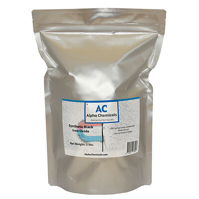 5 Lb Synthetic Black Iron Oxide - Fe3o4 - 1 Micron Particle Size