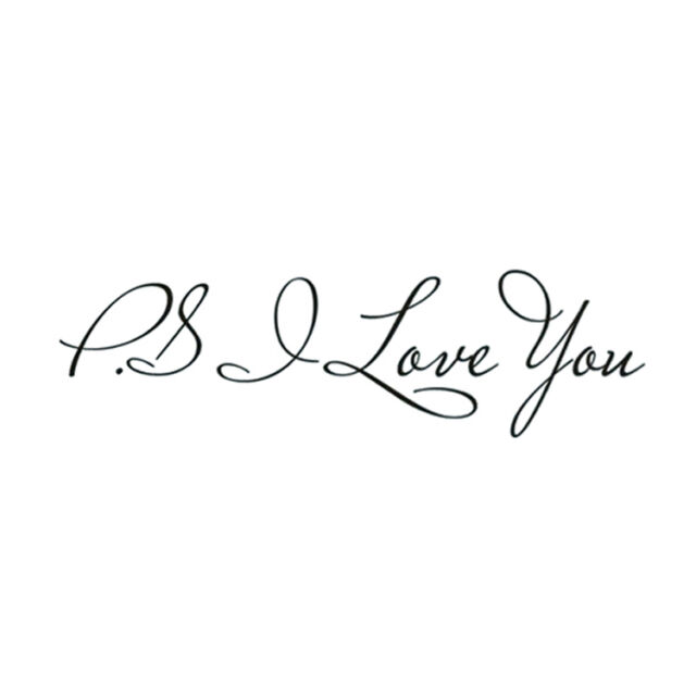 Letter Patterns PS I Love You PVC Wall Quotes Stickers Art Decals S9