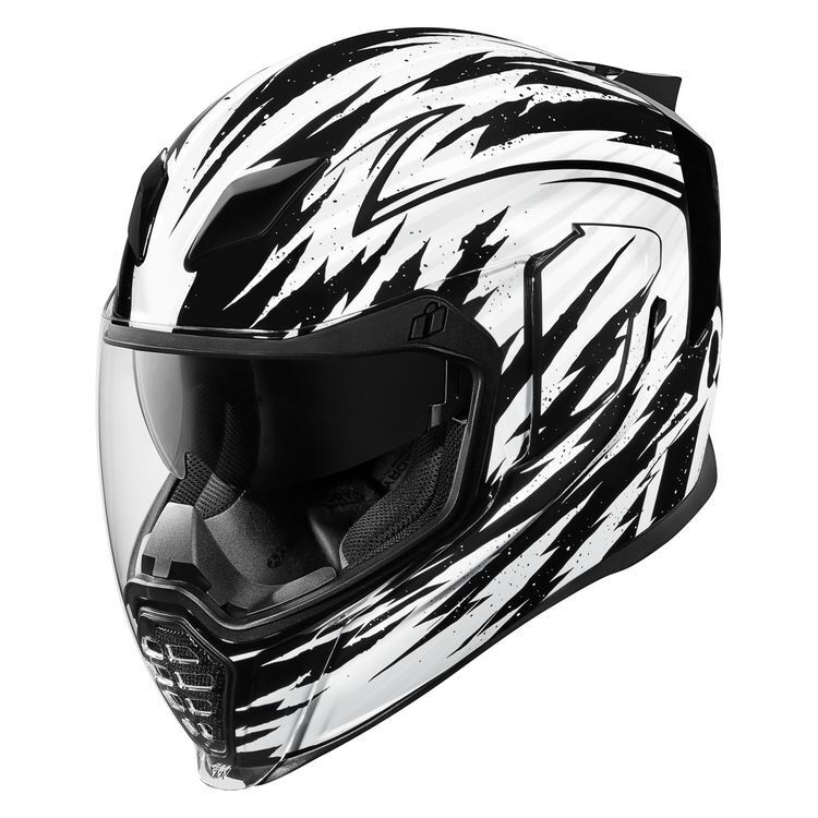 ICON AirFlite RUBATONE Full-Face Helmet w// Dropdown Sun Visor Matte Black