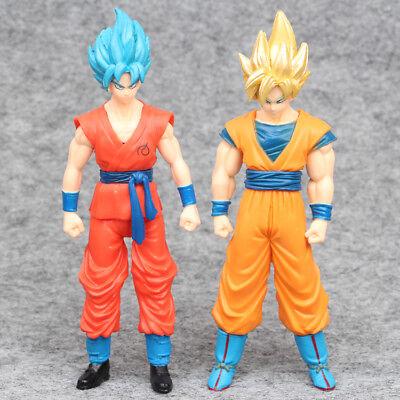 Dragon Ball Super Saiyan Goku 2 PCS Anime PVC Action Figure Doll Gift Kids Toy ()