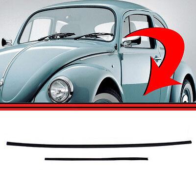 PAIR Inner Inside Window Felt Channels Front VW Bug Beetle 1952-1978 311837433A