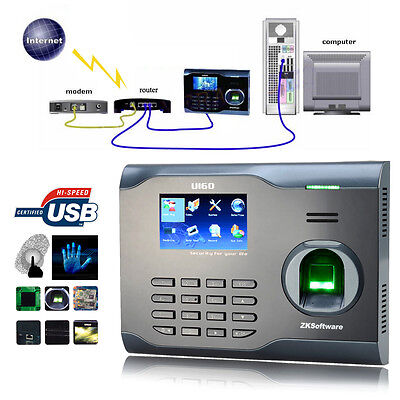 Zksoftware U160 Biometric Fingerprint Time Attendance Time Clock Time Recorder on Rummage
