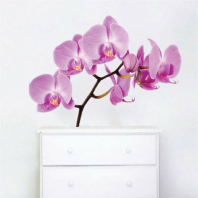 Orchid Wall Decal Pink Flower Wall Mural Petal Outdoors Tree Removable Art, - Orchid Outdoor Art