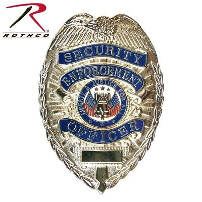 1915 Silver Deluxe Security Enforcement Office Shield Badge Rothco 1915 1915-cs