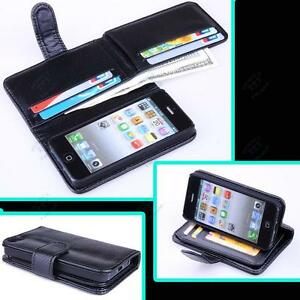 7-Porta-Scheda-Custodia-Flip-In-Pelle-A-Portafoglio-per-Apple-iPhone-5-5S-SE