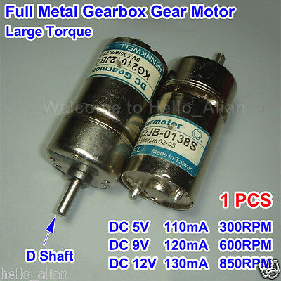 Dc 5v-12v 850rpm Full Metal Gearbox Reducer Micro Gear Motor For Robot Car Diy