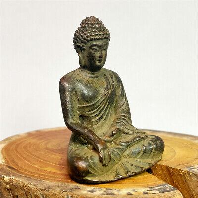 BOXWOOD PURELY HANDWORK CARVED BUDDHA PRAYER AMULET BOX EXORCISM STATUE
