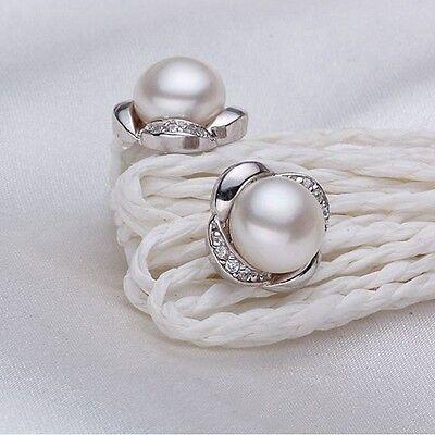 Süßwasserperle Silber Ohrringe 925er Elfenbein Weiß Perle Stecker Braut - Perle Silber Beine