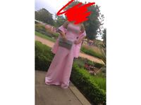 Pink prom/Bridesmaid dress size 6-10 corset back
