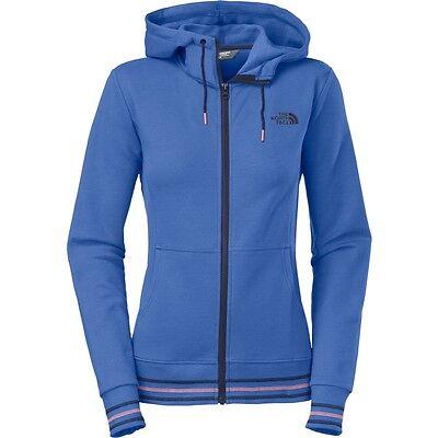 The North Face Womens Stretch Logo Full Zip Hoodie sweatshirt Coastline Blue (Logo Zip Hoodie Sweatshirt)