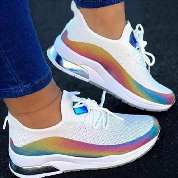 WOMENS LADIES LACE UP MESH TRAINERS GYM RUNNING SNEAKERS WALKING CASUAL SHOES