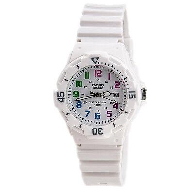 Casio Women's Dive Inspired Analog Quartz Glossy White Resin Watch