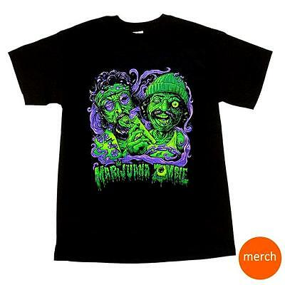 Cheech And Chong Marijuana Zombie Halloween Black Weed Pot 420 T Shirt Tee