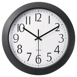 UNIVERSAL Whisper Quiet Clock 12 Black 10451