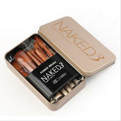 12x PROFESSIONAL Make up Brushes Set  for Kabuki Powder Foundation Blusher +Case