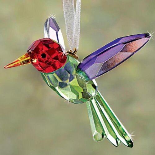 NEW Crystal Hummingbird Ornament Suncatcher Purple Red Yellow Green Collectible