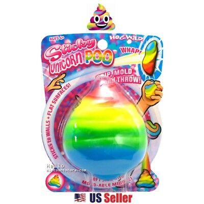Hog Wild Sticky Poo Unicorn Poo Squishy Jelly Pudding Sticky Toss Toy 1pc