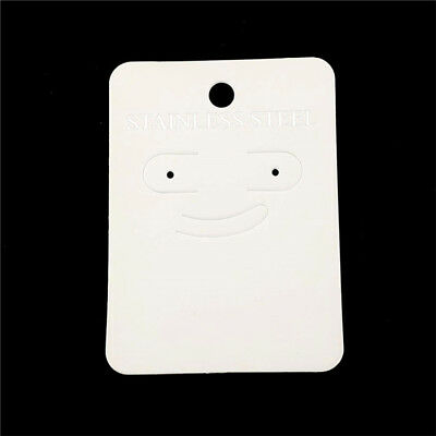 22609 100pcs Paper White Earring Necklace Hanging Display Packaging Card