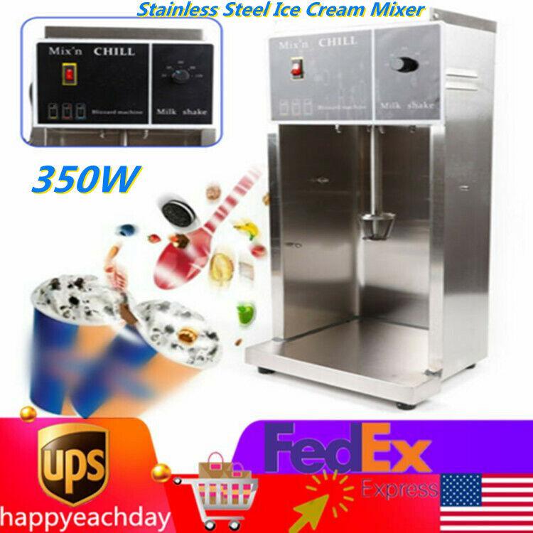 Auto Electric Blizzard Ice Cream Machine Blizzard Maker Shaker Blender Mixer350W
