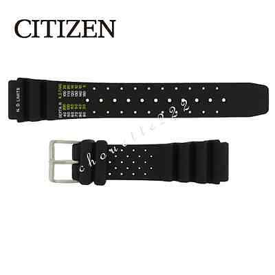 CITIZEN 59-L7404 20MM BLACK RUBBER WATCH BAND FOR ECO-DRIVE