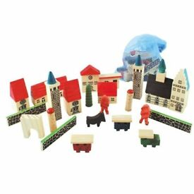 Wooden Village in a Bag **new unused**