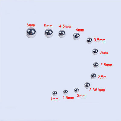 Equipment Parts Toy Bike 304 Stainless Steel Balls Bearings Rolling Balls 1-6mm
