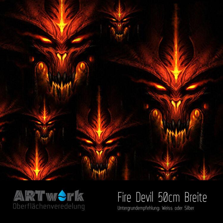 Wassertransferdruck Folie WTD Starterset 2m Fire Devil Aktivator