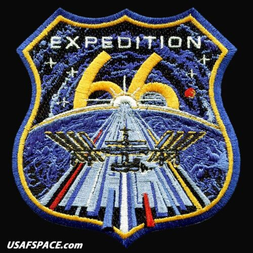 Authentic Expedition 66 - AB Emblem NASA SPACEX ISS Mission - EMBROIDERED PATCH