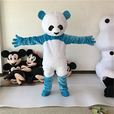 Halloween Chinese Panda Bear Mascot Costume Party Game Cosplay Dress Adults UK - Bear Halloween Costume Uk