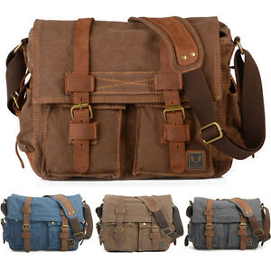 Vintage-DSLR-Canon-Nikon-Sony-Camera-Shoulder-Bag-Padded-Insert-Messenger-Bag
