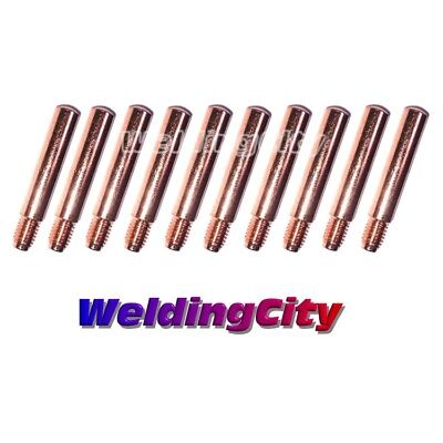 10 Mig Welding Gun Heavy Duty Contact Tips 14h-35 .035 For Lincoln Tweco 2-4