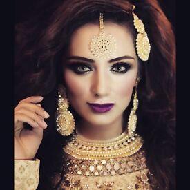 Makeup artist Asian bridal hair and makeup artists Bradford Leeds Sheffield Manchester Wakefield