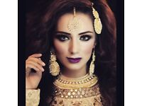 Makeup artist Asian bridal hair and makeup artists Bradford Leeds Sheffield Manchester Wakefield