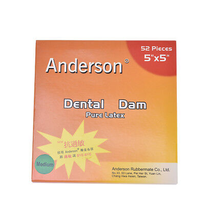 1 Kit Dental Rubber Dam Sheet Pure Latex Dura Dam 52 Pcs 55 36 Pcs 6 X 6
