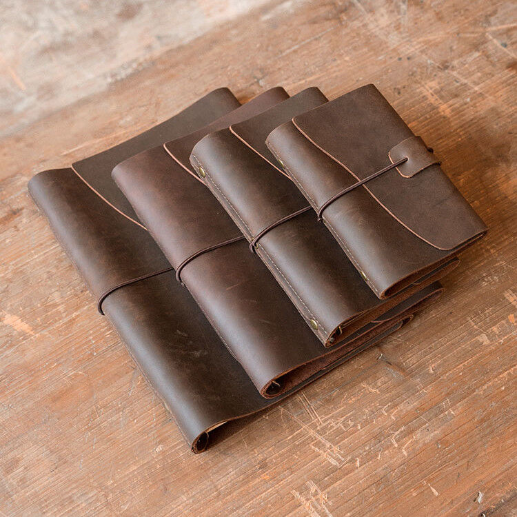 Personalized Genuine Leather Notebook Journal Refillable Wri