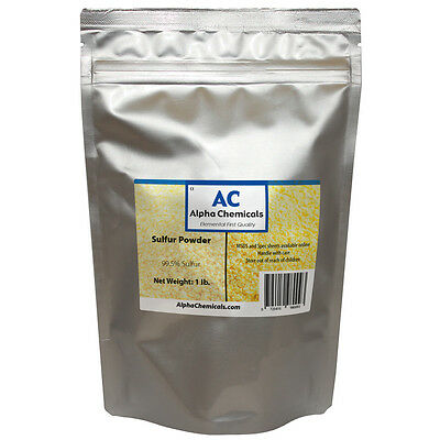 1 Pound - Sulfur - 99.5 Pure - Powder